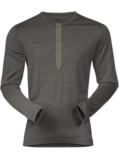 Bergans Henley Wool Shirt Men Seaweed Melange